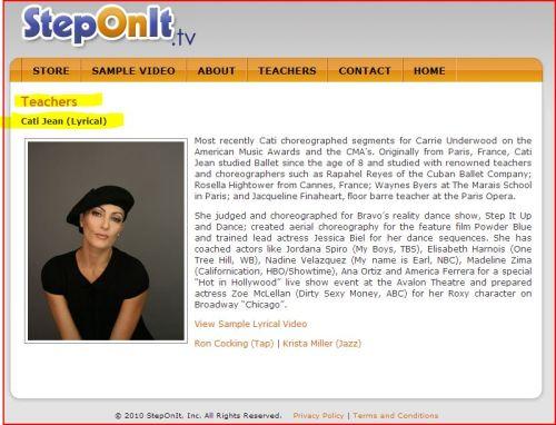 Cati Jean on StepOnIt.tv