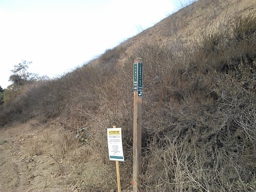 Sumac trail directional Sign post