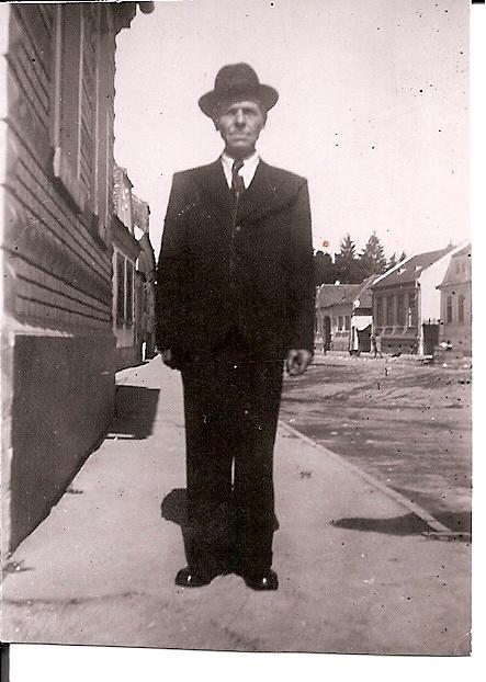 """My grand father"" (Strada Tabacari, no.34, Fagaras, Romania Around 1958) (old photos, snapshot on the past""- My photography collection)"