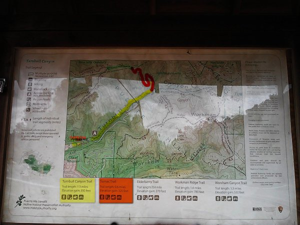 Turnball Cyn - Sumac - Rattlesnake Trails-Map