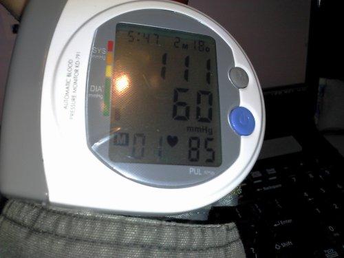 111-60-85, hmmm; Wrist Blood Pressure Meter (not for use underwater!)