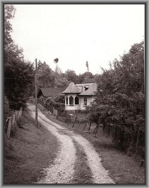 Drum de car si Casa cu terasa in still Brancovenesc - Breaza -Prahova 1981