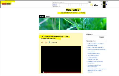 euzicasa - My first Post (archived at Internet Archive Accessed by WayBack Machine
