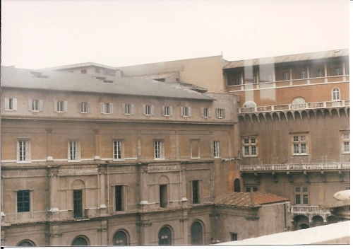 Inside the Vatican Palace_view of the vatican Gardens and Palace_ February 1984-end of Anno Sancto 1983