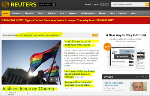 Reuters:  Breaking News_ March 27-2013