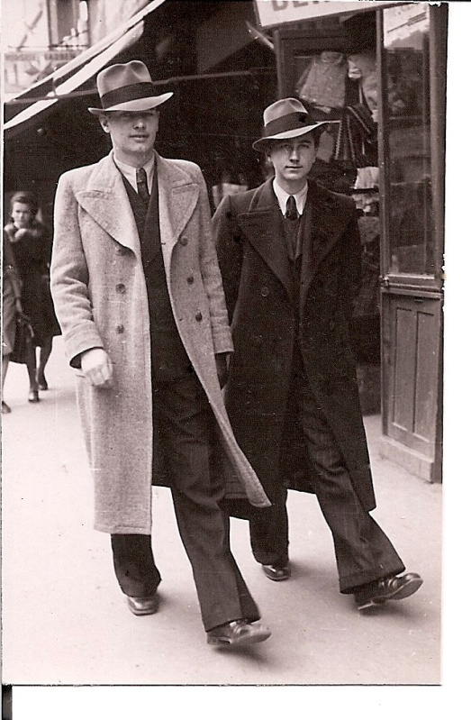 """""""The Corso Stroll"""" (My Father and his friend Dr. Letea, In Brasov (Kronstadt), Romania, 1941) (My Photo Collection)"""
