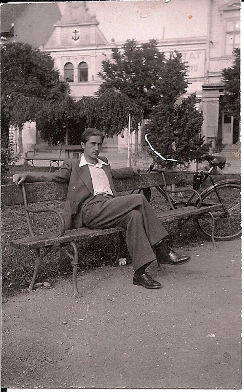 """Resting on a Bench"" (My Father resting on a bench in the central park, Fagaras, Romania, 1939 - My photo Collection)"