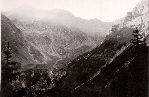 """As the Sun Rises in Caldarea Negoiului, Muntii Fagaras, 1981"""