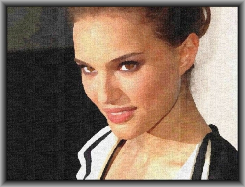 The Portrait of a kind Smile - Natalie Portman (Digital Oil Painting)