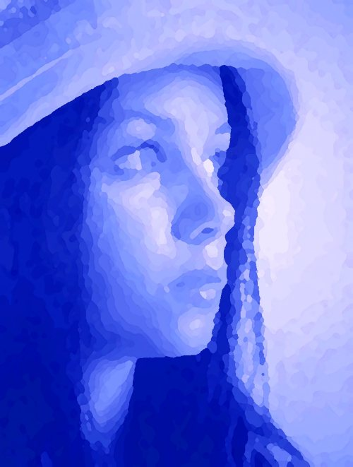 Topometric Portrait in Indigo(my Photo Collection)