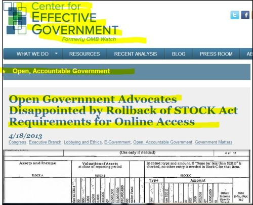 center for effective government Open government advocates