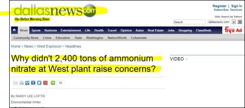 DallasNewscom_-_ Why didn't 2,400 tons of ammonium nitrate at West plant raise concerns