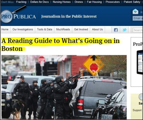 From ProPublica --A Reading Guide to What's Going on in Boston