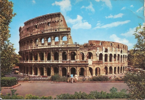 Il Colosseo-Rome February 1984 (the Postcard never sent) (my photo collection)