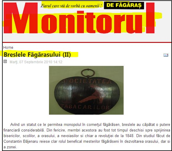 MONITORUL DE FAGARAS
