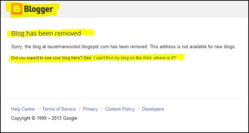 One God News emulated another site on Blooger and it was terminated by Goggle.