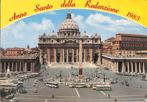 Piazza San Pietro_ Rome February 1984 - Anno Sanco della Redenzione 1983 (the postcard never sent)
