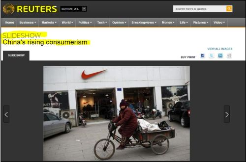 Reuters-_-China rising Consumerism and other reports (access Here)