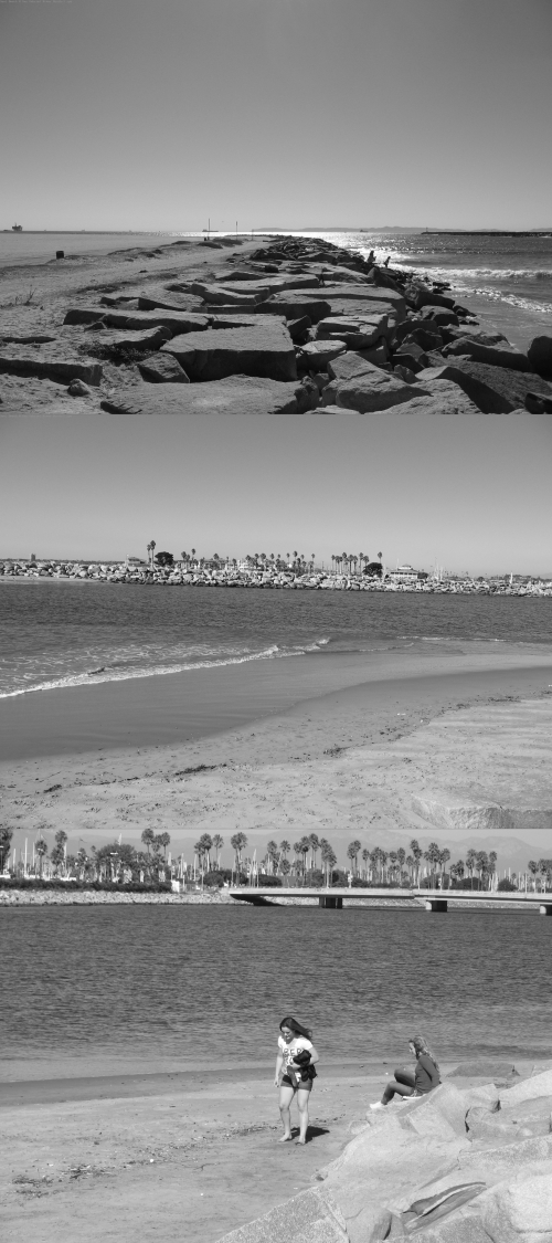 Seal Beach @ San Gabriel River Mouth Graystoned (graytones are for Art!)
