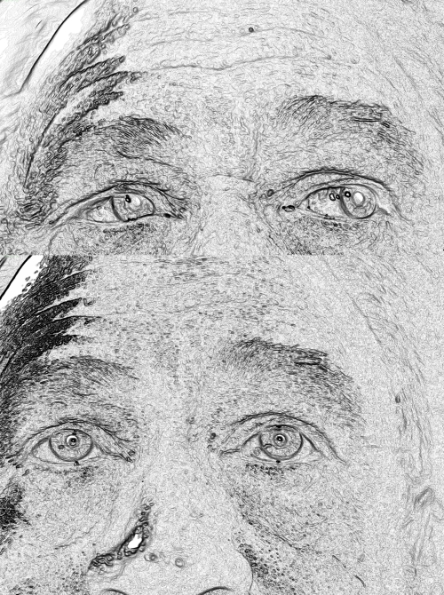 Sketch effect and Shadow study (with Irfan View software)