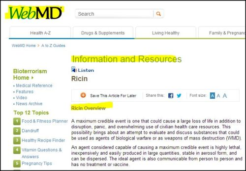 WebMD_ Ricin Overview