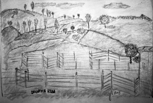 Drovers Run - McCleud's Daughters (pencil Sketch)