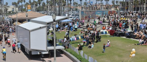 Busy Day at Huntington Beach