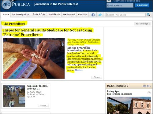 From ProPublica - The Prescribers full coverage