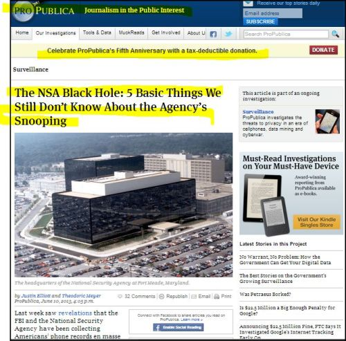 From ProPublica_-_The NSA Black Hole - 5 Basic Things We Still Don't Know About the Agency's Snooping