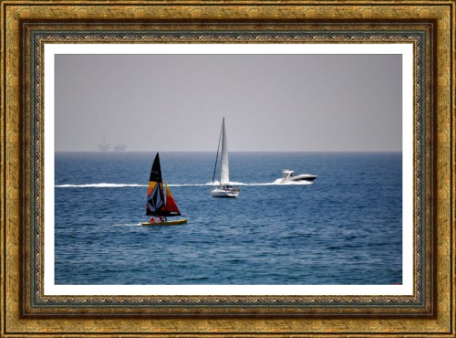 Sailing off Huntington Beach (oil Painting) ( My Art Collection)