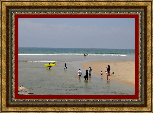 Santa Ana River Mouth - Huntington Beach (Oil Painting) (My Art Collection)