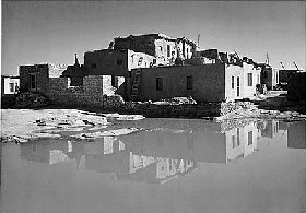 Acoma Pueblo - Ancient Sky City - Photograph by Ansel Adams (New Mexico Legends)
