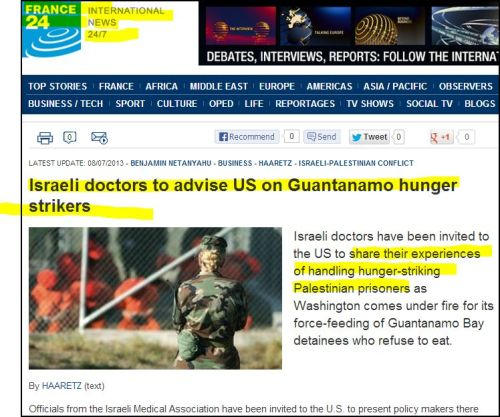 From France 24 International -+- Israeli doctors to advise US on Guantanamo hunger strikers