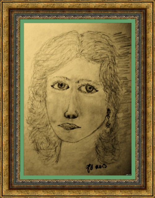 Portrait of Angeline - Oil Painting (My Art Collection)
