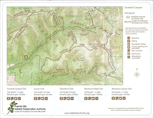 Puente Hills Preservation Authority: Turnbull Canyon Map-1
