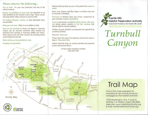 Puente Hills Preservation Authority: Turnbull Canyon Map-2