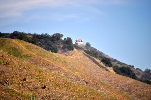 Water Tower from Turnbull Canyon Trail (small, far, hard to reach? Oh No! Are we getting any closer?