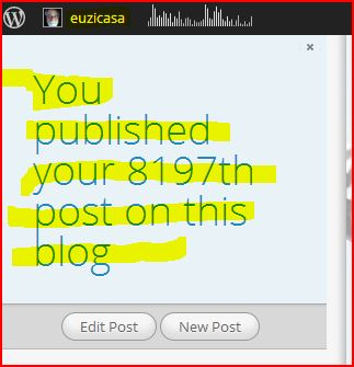 You published your 8196th post on this blog