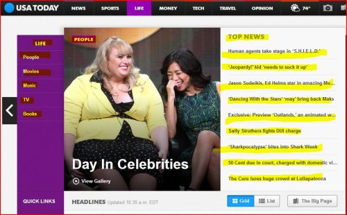 USATODAY -_- Day In Celbrities and Top News