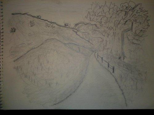 Turnbull Cyn. Trail - Pencil Sketch (My Art Collection)