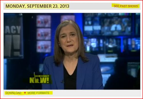 Democracy Now -_- September 23, 2013