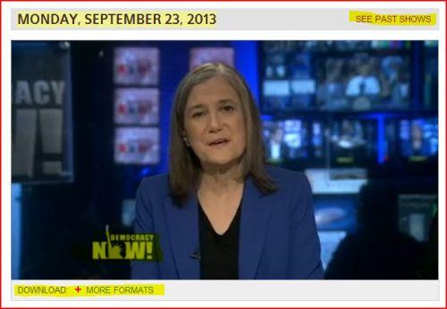 Democracy Now -_- September 23, 2013