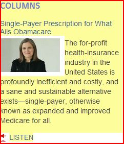 "For profit Health care INDUSTRY sole beneficiary of the Obamascare efemisticaly titled as ""AFFORDABLE"""