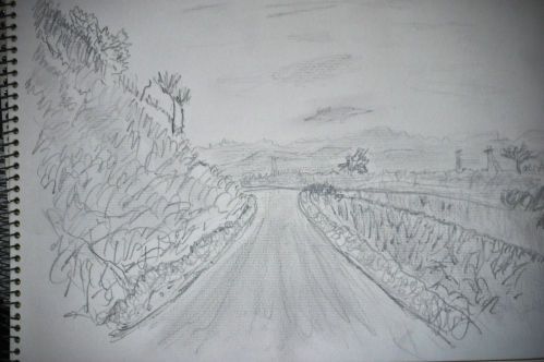 Winding Trail Pencil Sketch - Turnbull Cyn (My Art Collection)