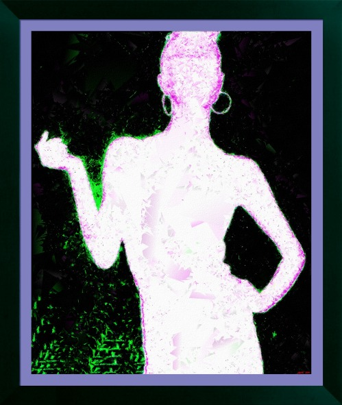 'Alexandra Leaving' (FotoSketcher - Stylized Effect 'Emergence 2')