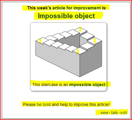 Wikipedia invite_Impossible Object (view - talk - edit)