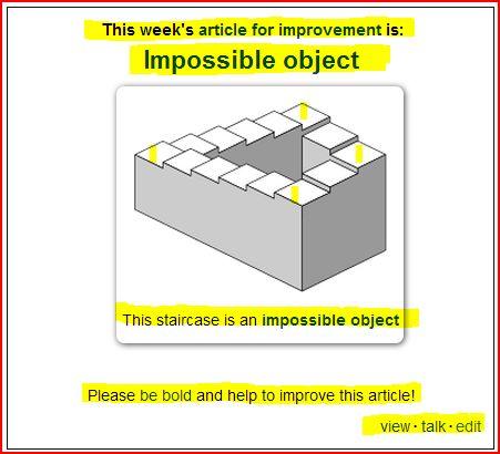 Wikipedia invite_Impossible Object (view - talk - edit)