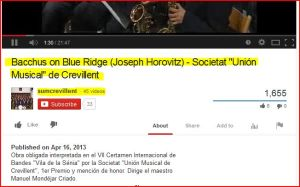 "Bacchus on Blue Ridge (Joseph Horovitz) - Societat ""Unión Musical"" de Crevillent"