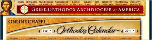 Greek Orthodox Archdiocese of America - Oonline Chapel - Calendar Click here to access