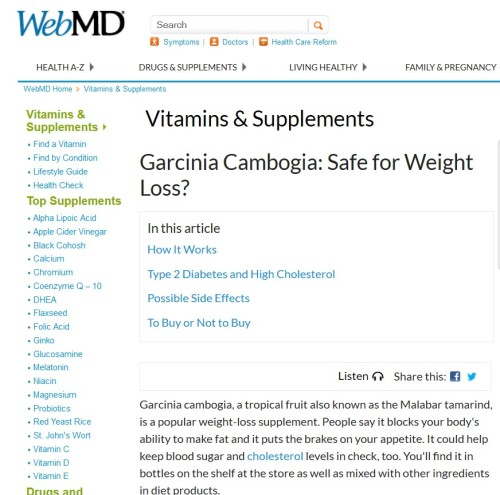 Garcinia CambogiaI: Safe for Weight Loss?
